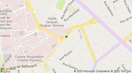 Plan d'accès au taxi Dupin Bernard