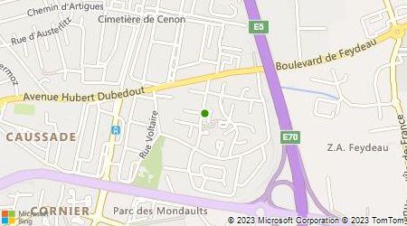 Plan d'accès au taxi Canamas Jean-Pierre