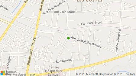Plan d'accès au taxi Abeilles Bergerac Taxis