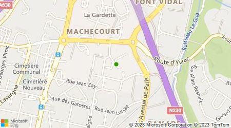 Plan d'accès au taxi Bordeaux Taxis Services