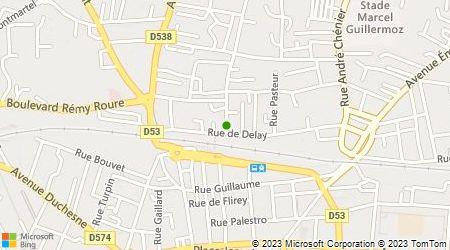 Plan d'accès au taxi Taxi Bournier-Serre-Barret