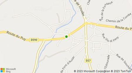 Plan d'accès au taxi Aiguilhe Taxi