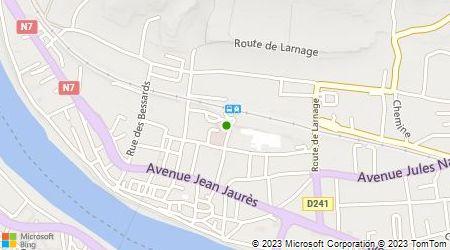 Plan d'accès au taxi Juge Jean-Pierre