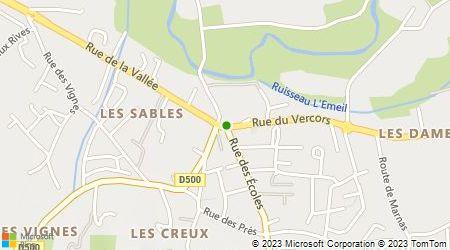 Plan d'accès au taxi Taxi Drôme 26