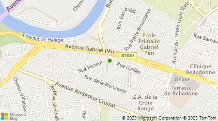 Plan d'accès au taxi Taxi Banlieue Grenobloise