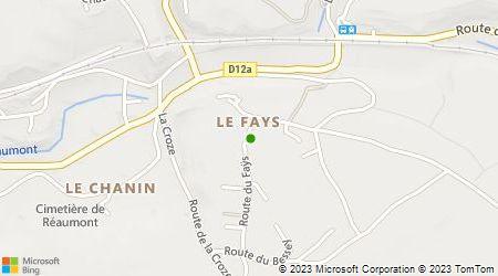 Plan d'accès au taxi A Belledonne Taxis Sarl