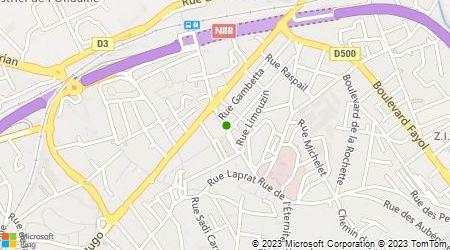 Plan d'accès au taxi Taxi Granouillet Teissier