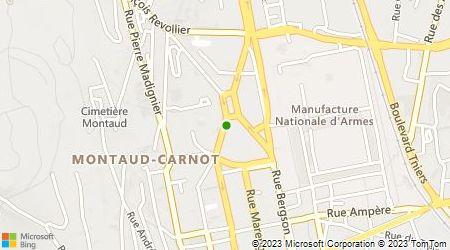 Plan d'accès au taxi Allo taxis 42
