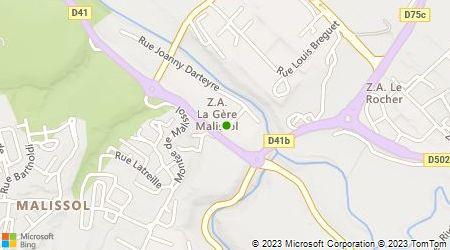 Plan d'accès au taxi Dubot Taxis