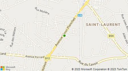 Plan d'accès au taxi Taxi Moulin Albalatte Gicquel