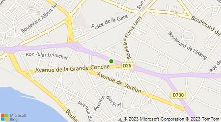 Plan d'accès au taxi Taxi Saint Bernard