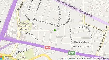 Plan d'accès au taxi A.D.A.M,Académie Lyonnaise Du Taxi