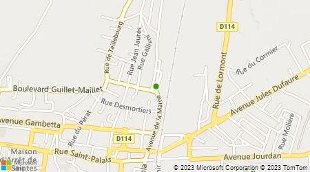 Plan d'accès au taxi Abaxis Roos Taxis Saintes