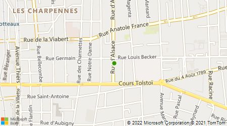 Plan d'accès au taxi Vidaud Alain