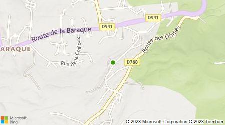 Plan d'accès au taxi Montmory Jean-Christophe