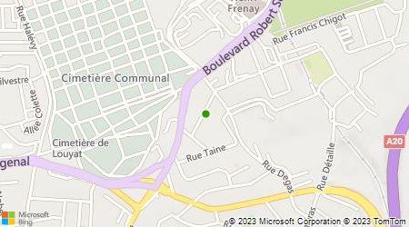 Plan d'accès au taxi Allo Artisans Limoges Taxi (AALT)