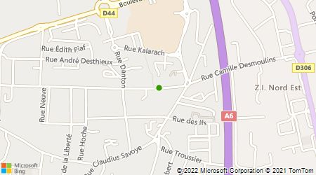 Plan d'accès au taxi Durand Taxis Villefranche