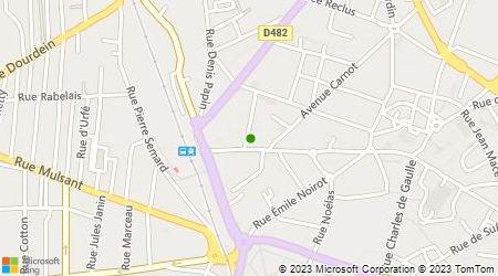 Plan d'accès au taxi Radio Taxis Roannais