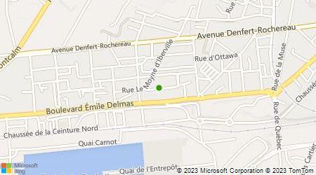 Plan d'accès au taxi Ici Taxi Périgny