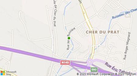 Plan d'accès au taxi Aubrun Jean Luc