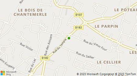 Plan d'accès au taxi Allo Taxi Bessines Chauray