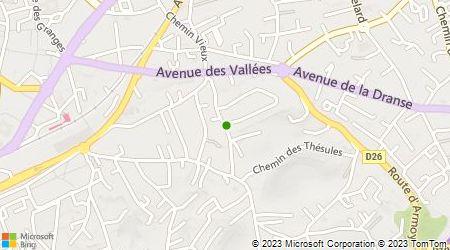 Plan d'accès au taxi Accueil Croix De Savoie Taxi