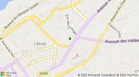 Plan d'accès au taxi AACTT (Allo Atisans Centrale Taxis Thonon)