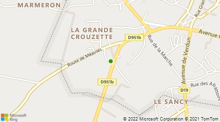 Plan d'accès au taxi ADC (Ambulances Dessalles Chalumeau)