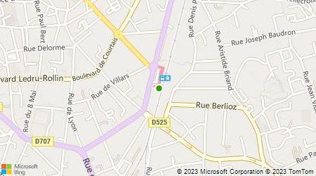 Plan d'accès au taxi Taxis Moulins