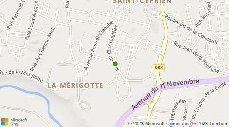 Plan d'accès au taxi Association Des Artisans Taxis Indépendants Du District De Poitiers
