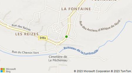 Plan d'accès au taxi Bouquerot Eric