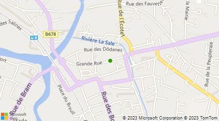 Plan d'accès au taxi Fraboulet Jean-Pierre