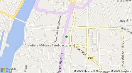 Plan d'accès au taxi AB Taxi Chatellerault