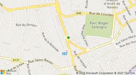 Plan d'accès au taxi Radio-Taxis de Nevers