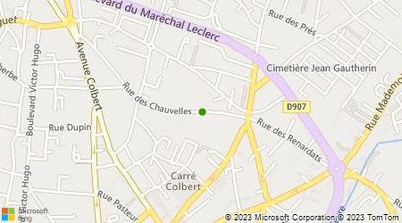 Plan d'accès au taxi Moreau Joël