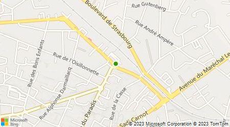 Plan d'accès au taxi Radio Taxis Choletais