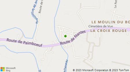 Plan d'accès au taxi Guitteny Jean-Louis