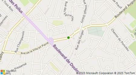 Plan d'accès au taxi Lecoq Germain