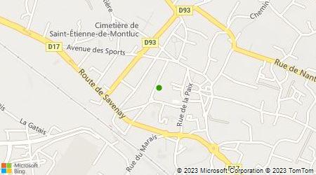 Plan d'accès au taxi Taxis Loire et Sillon