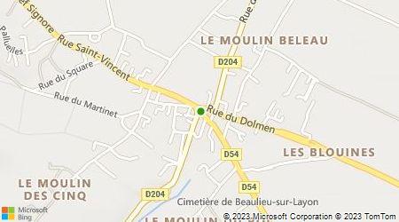 Plan d'accès au taxi Guion-Baranger