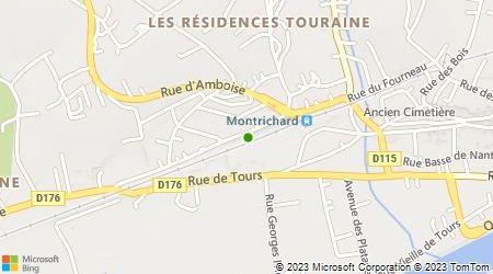 Plan d'accès au taxi Sarl Taxis Val du Cher
