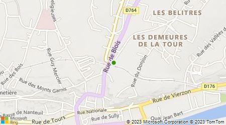 Plan d'accès au taxi Ambulances De Pontlevoy