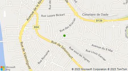 Plan d'accès au taxi Champeimont Christian