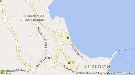 Plan d'accès au taxi Allo Artaxi Pays d'Auray Pothier