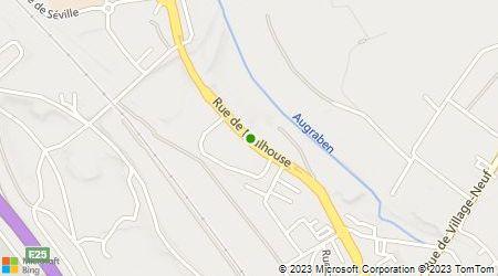 Plan d'accès au taxi Ambulances Alsace Assistance