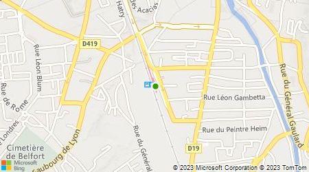 Plan d'accès au taxi Taxi Wiart Gérard
