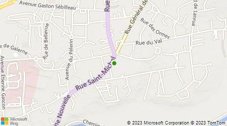 Plan d'accès au taxi Ambulances du Pays de Vilaine