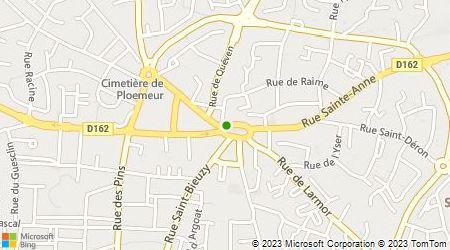 Plan d'accès au taxi Kerdelhué Andrée
