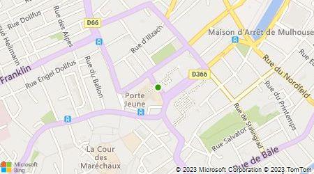 Plan d'accès au taxi Taxis Radio Mulhouse