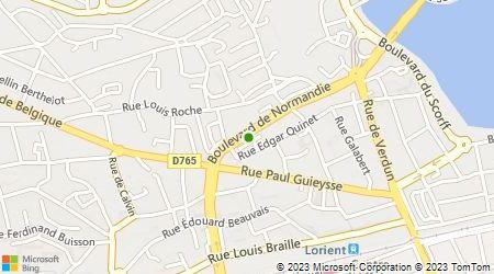 Plan d'accès au taxi Radio Taxis Lorientais